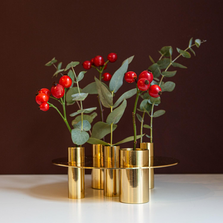 AWA-Candleholder/Vase Brass