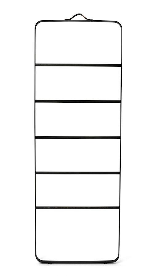 Towel Ladder,Black/Dark Oak