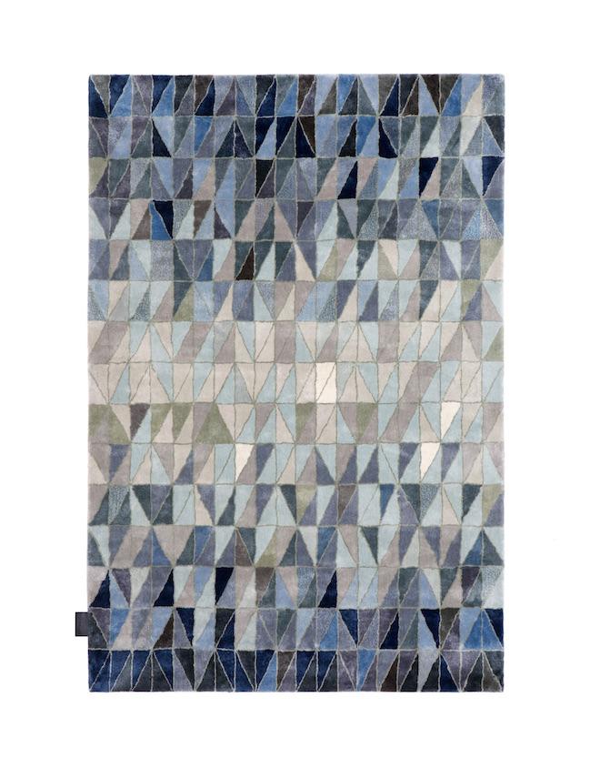 Wedge Rug- Blue Shades