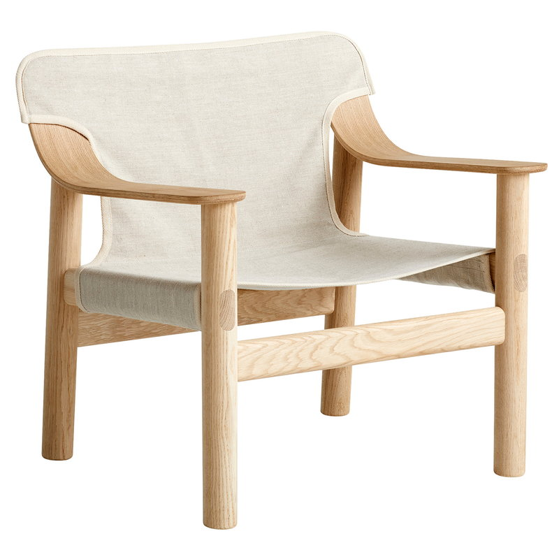 Bernard Lounge Chair, mat lacquered Oak-Canvas