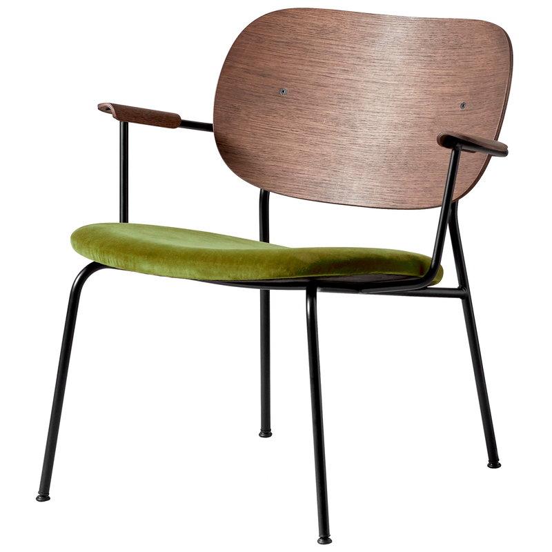 Co-Lounge Chair-Dark Oak-City Velvet