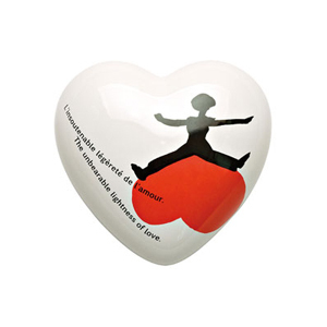 Heart The Unbearable lightness of Love ceramic