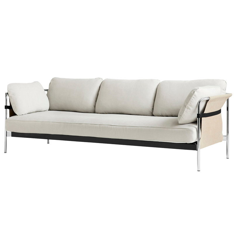 Can Sofa, 3 seater, Chrome Steel
