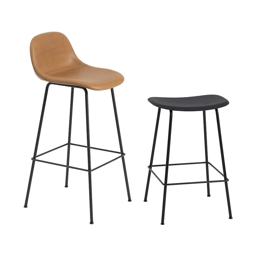 Fiber High Back stool, tube base