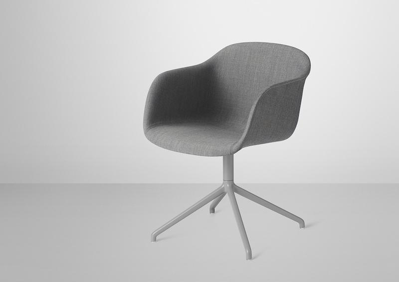 Fiber Swivel Chair in Fabric