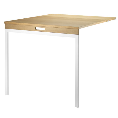 String Folding Table-Oak-White