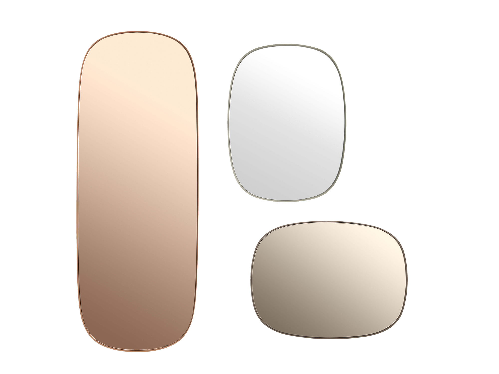 Framed Mirror Large-Grey