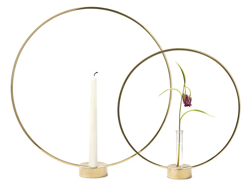 Gloria Candlestick large Brass