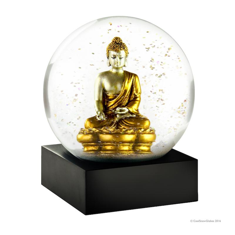 CoolSnowGlobes-Gold Buddha