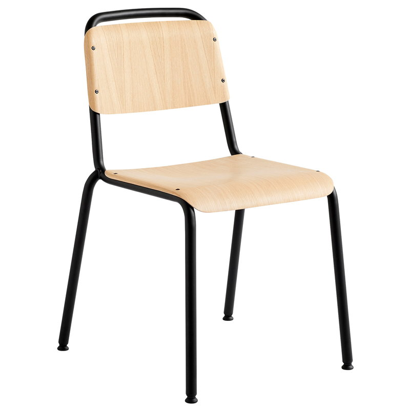 Halftime Chair, Black- Mat lacquered Oak