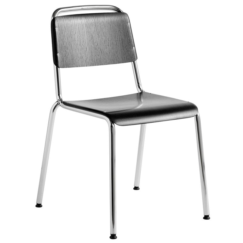 Halftime Chair, Chrome -Black Stained Oak