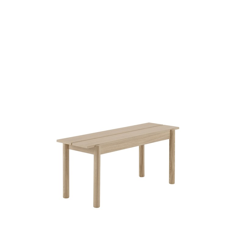 Linear Wooden Bench L110cm