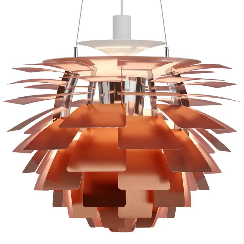 PH Artichoke pendant lamp Copper Rose 600mm