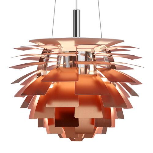 PH Artichoke 480mm copper rose pendant lamp