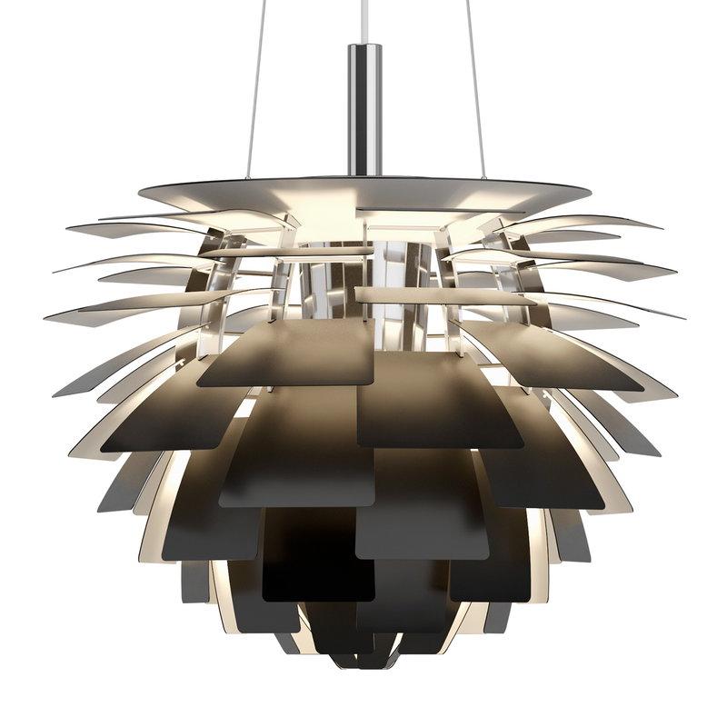 PH Artichoke pendant lamp Black  480mm