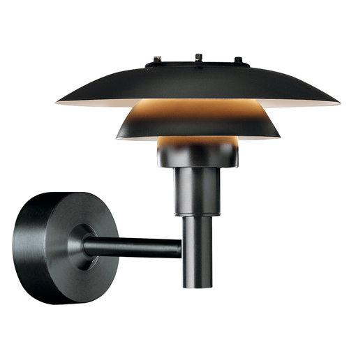 PH 3-2 1/2 Wall Lamp Black
