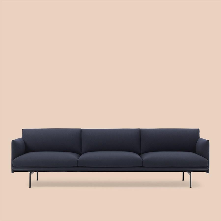 Outline Sofa 3 1/2 seater Black Base