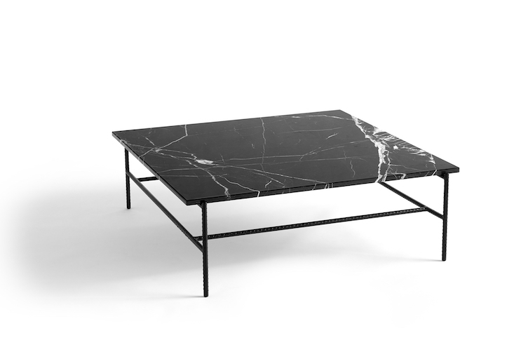 Rebar Coffee Marble Table Large