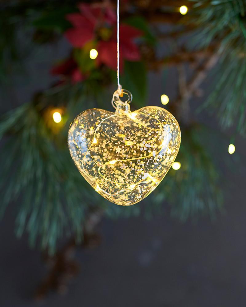 Romantic Glass Heart 10cm
