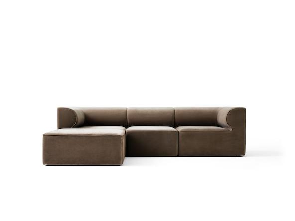 Eave 3 seat Modular Sofa with ottoman