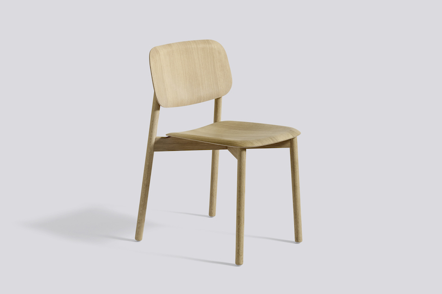 Soft Edge chair- wooden frame