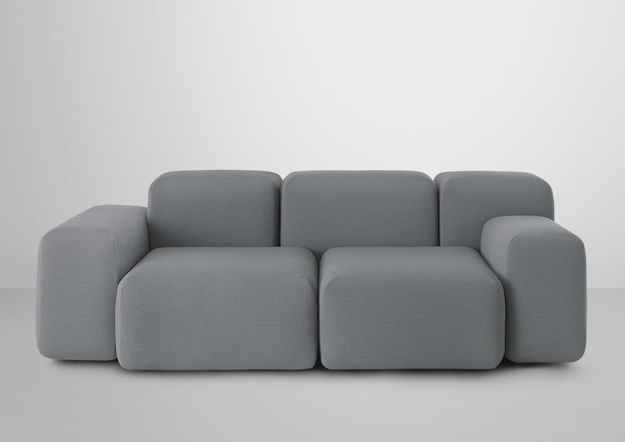 Soft Block Sofa 2 seats