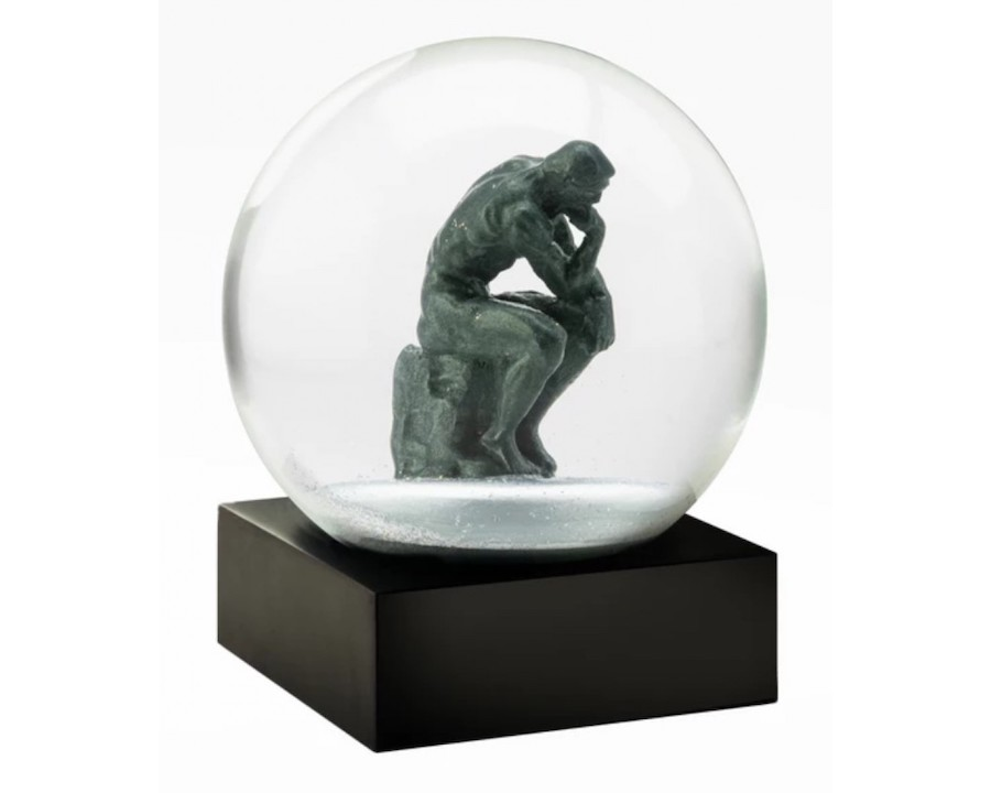CoolSnowGlobes-The Thinker