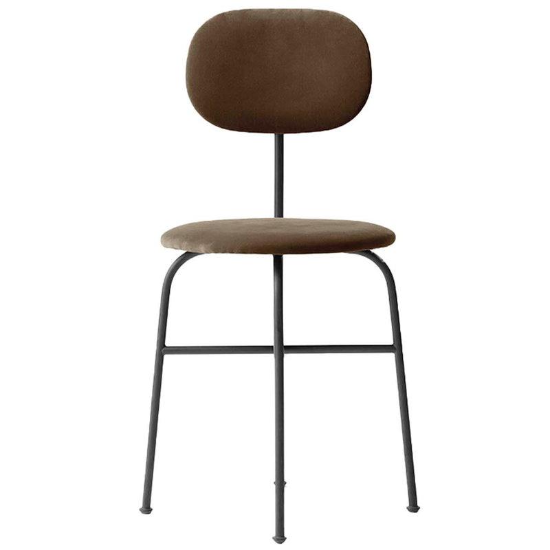 Afternoon Plus, Dining Chair, City Velvet, Black steel