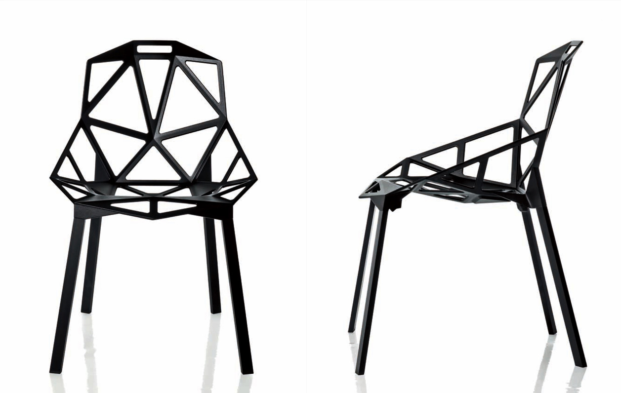 Chair One B outdoor, 2pcs