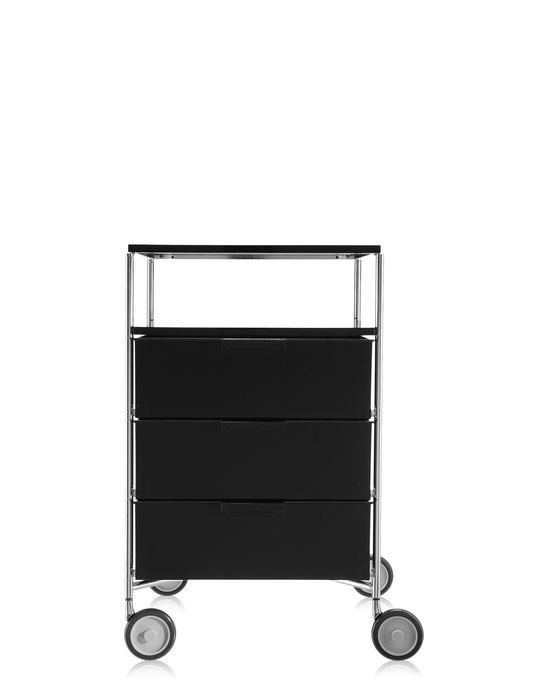 Mobil 3 Drawer with shelf, wheels