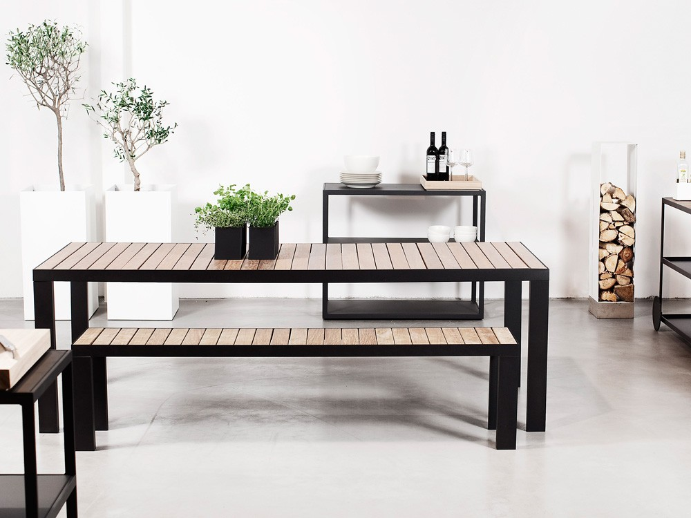 Garden Dinner Table 160cm