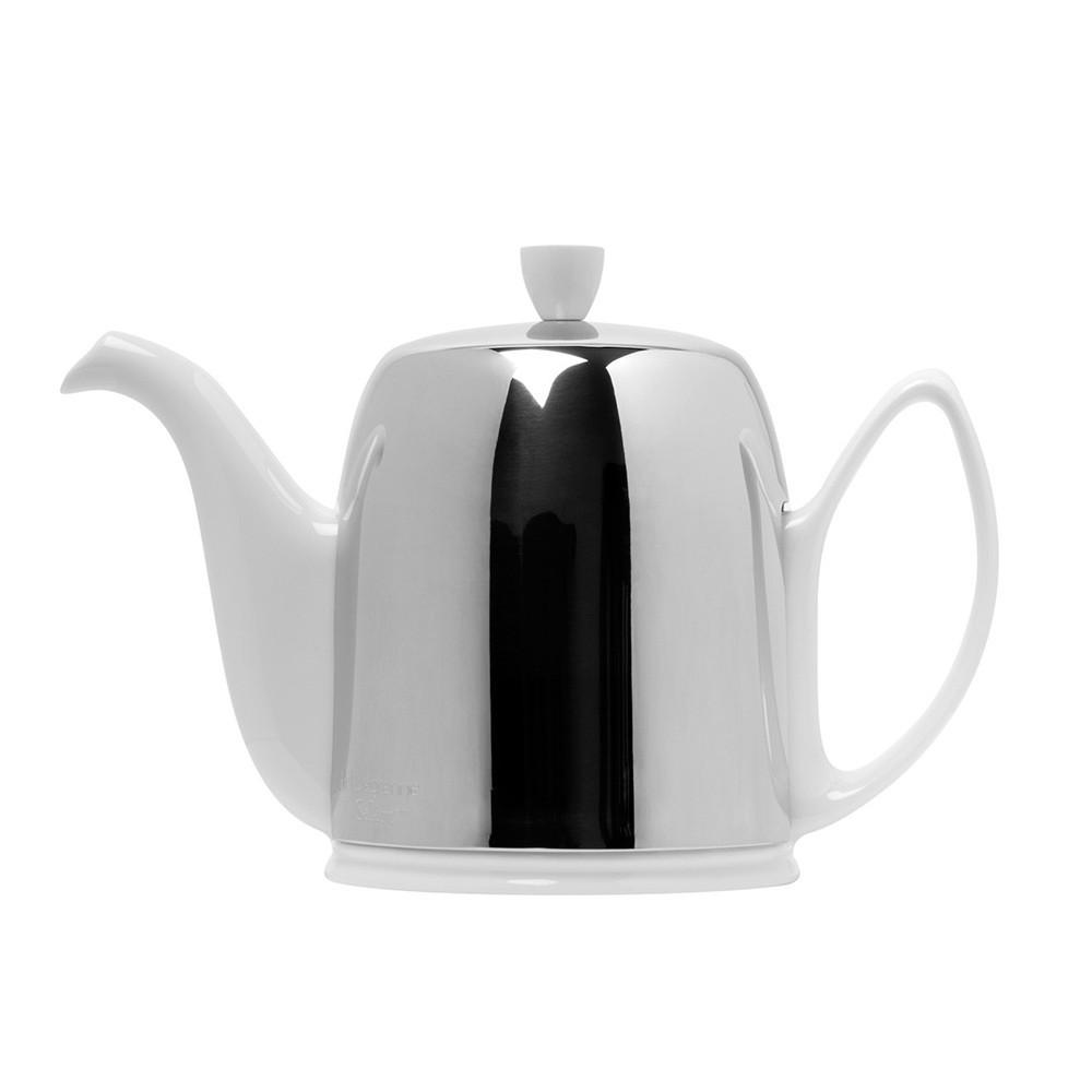 Salam Tea-Pot 4 cup White/Chrome
