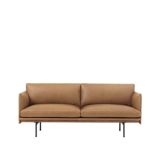 Outline Sofa 2 seater – Black Base