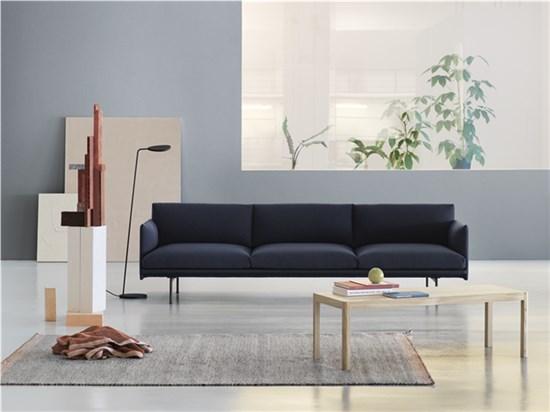 Outline Sofa 3 1/2 seater – Black Base