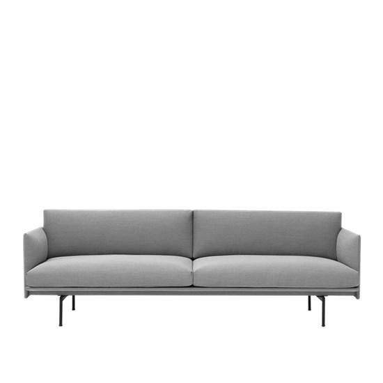 Outline Sofa 3 seater – Black Base