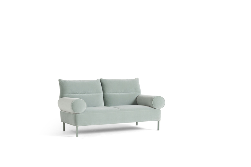Pandarine 2 seater with Cylindrical arms and reclining backrest L170cm