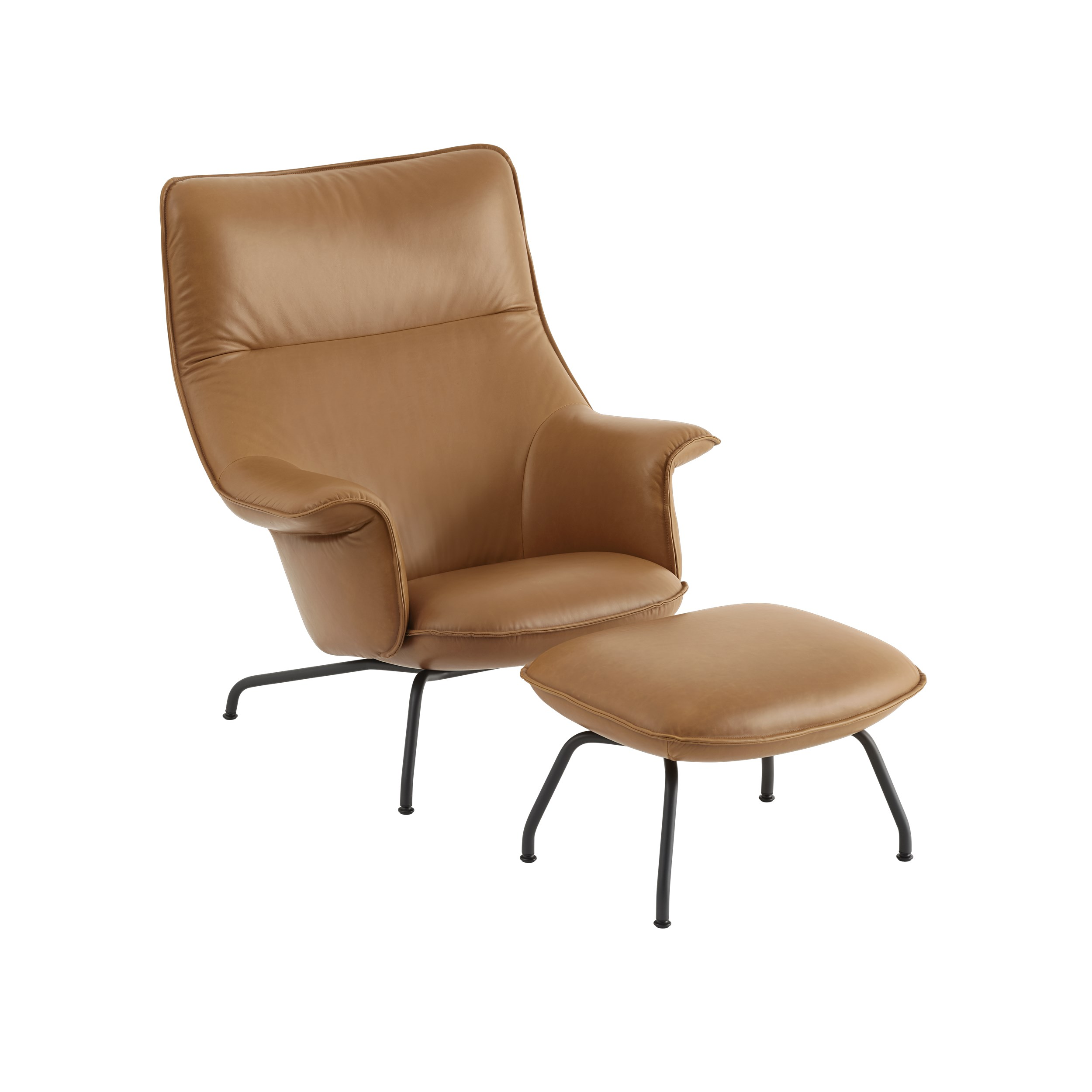 DOZE Lounge Chair and footstool Leather