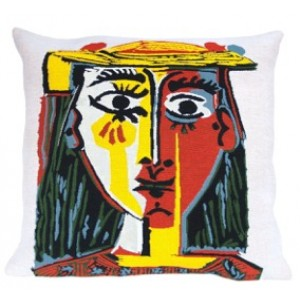 PICASSO  'PORTRAIT OF A WOMAN WITH HAT' CUSHION
