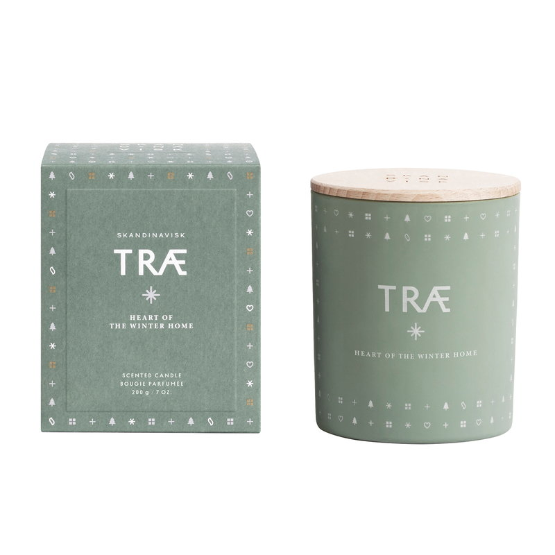 Scented Winter candle with lid, TRAE
