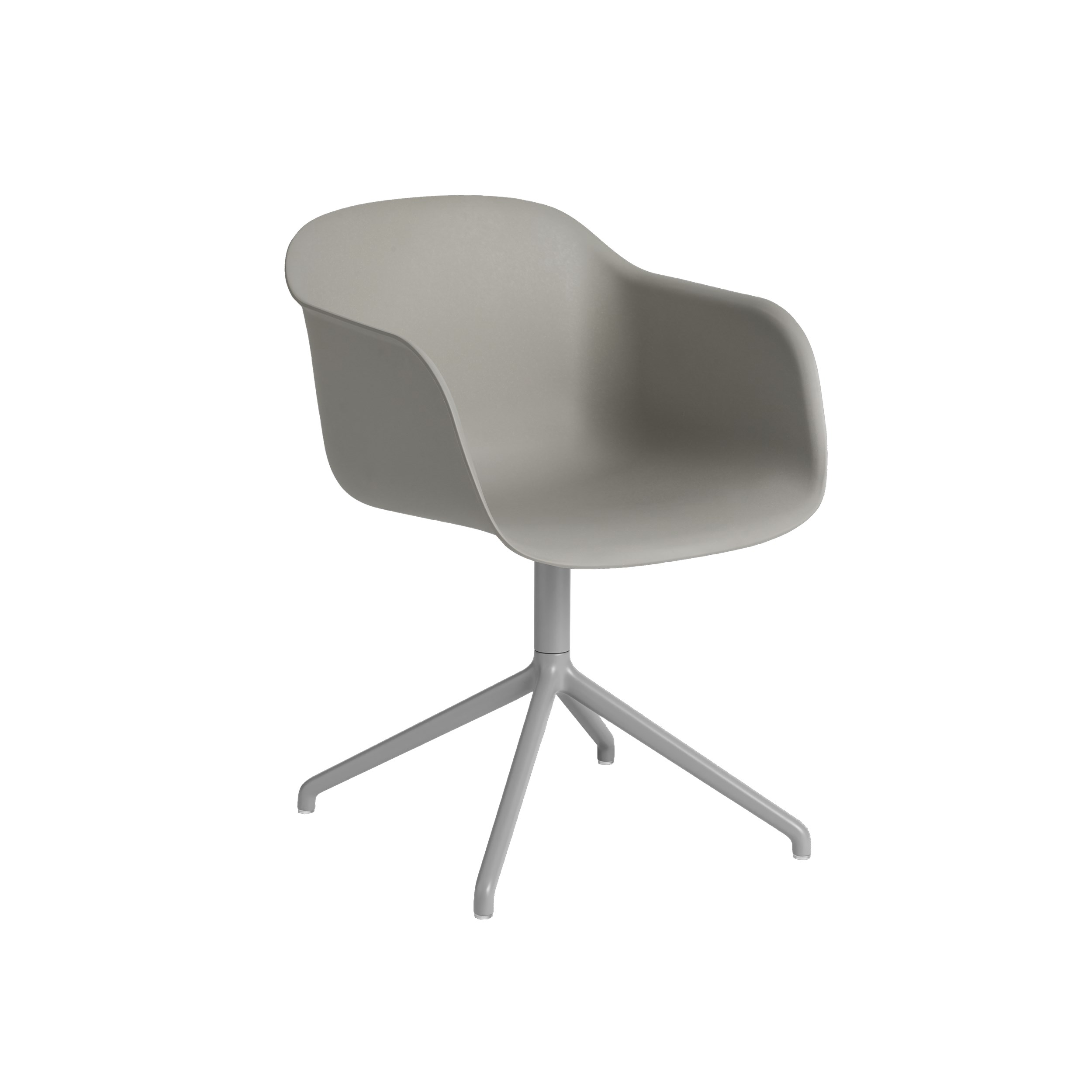 Fiber Swivel Chair in Shell