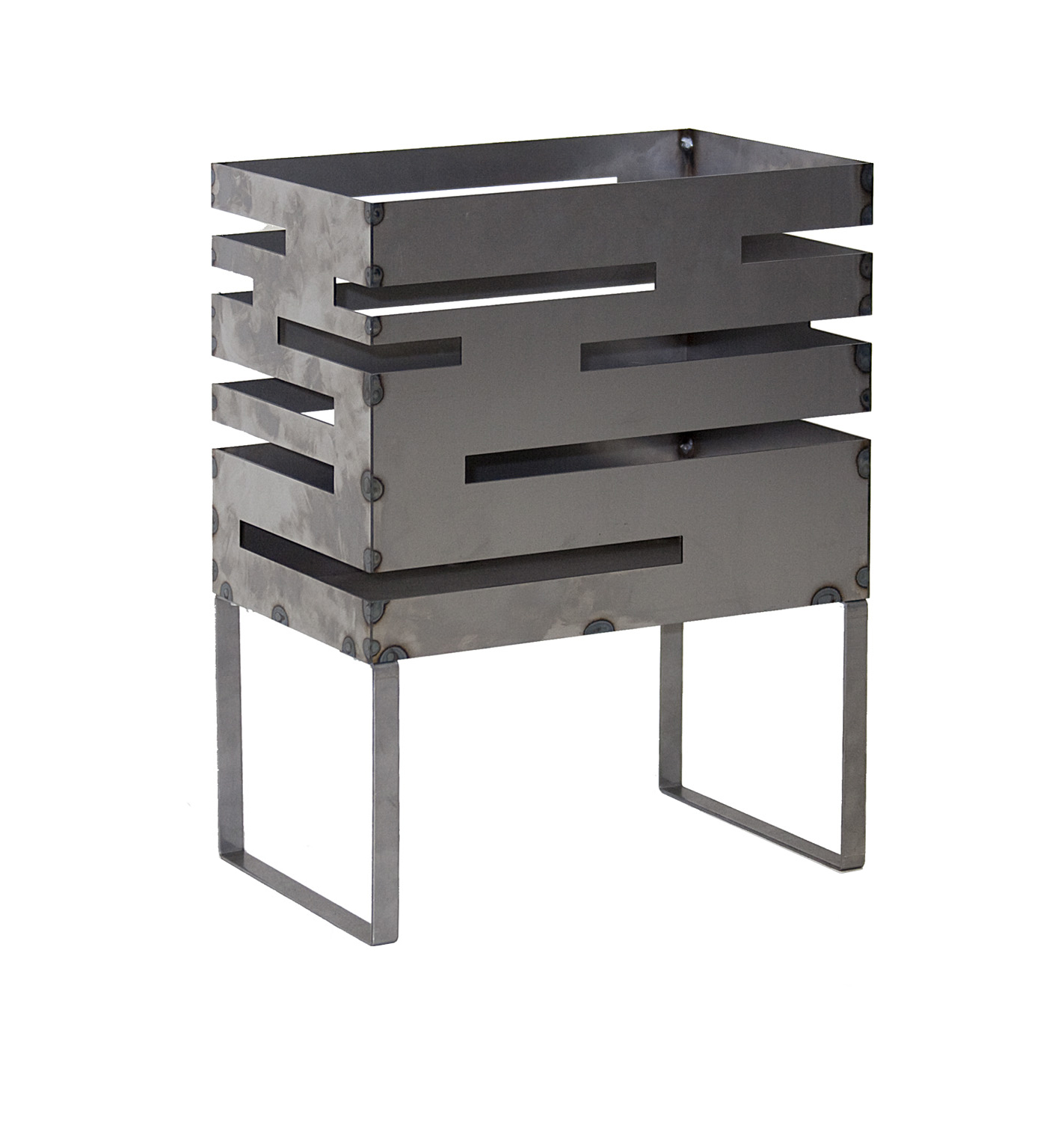 Firebasket Urban with base plate in 2 sizes