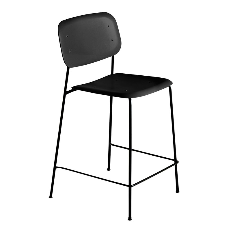Soft Edge P10 bar stool, 65 cm, black – black