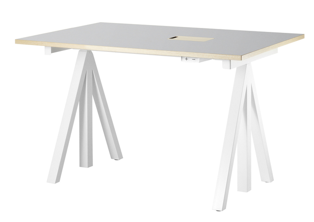String Workstation 120cm Grey with drawer.