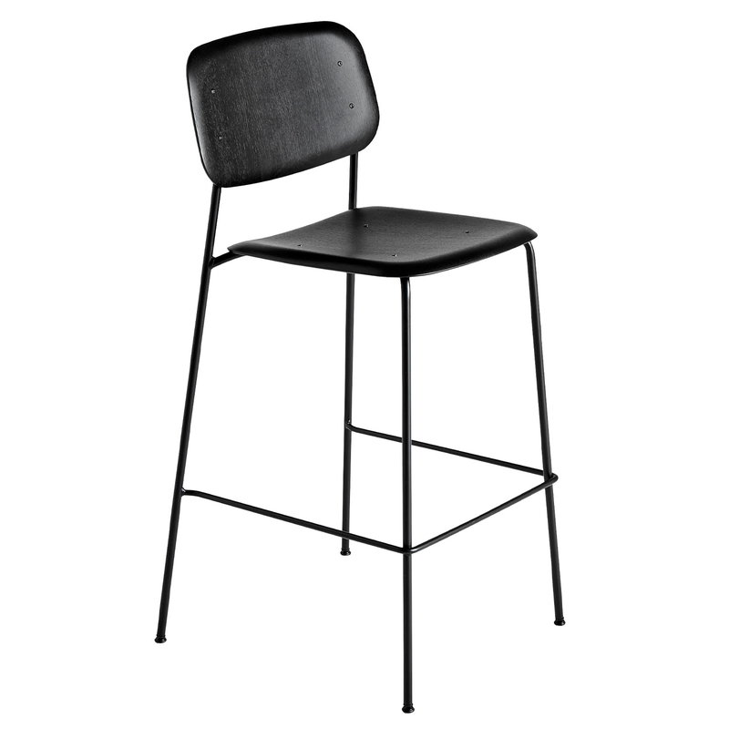 Soft Edge P10 bar stool, 75 cm, black – black