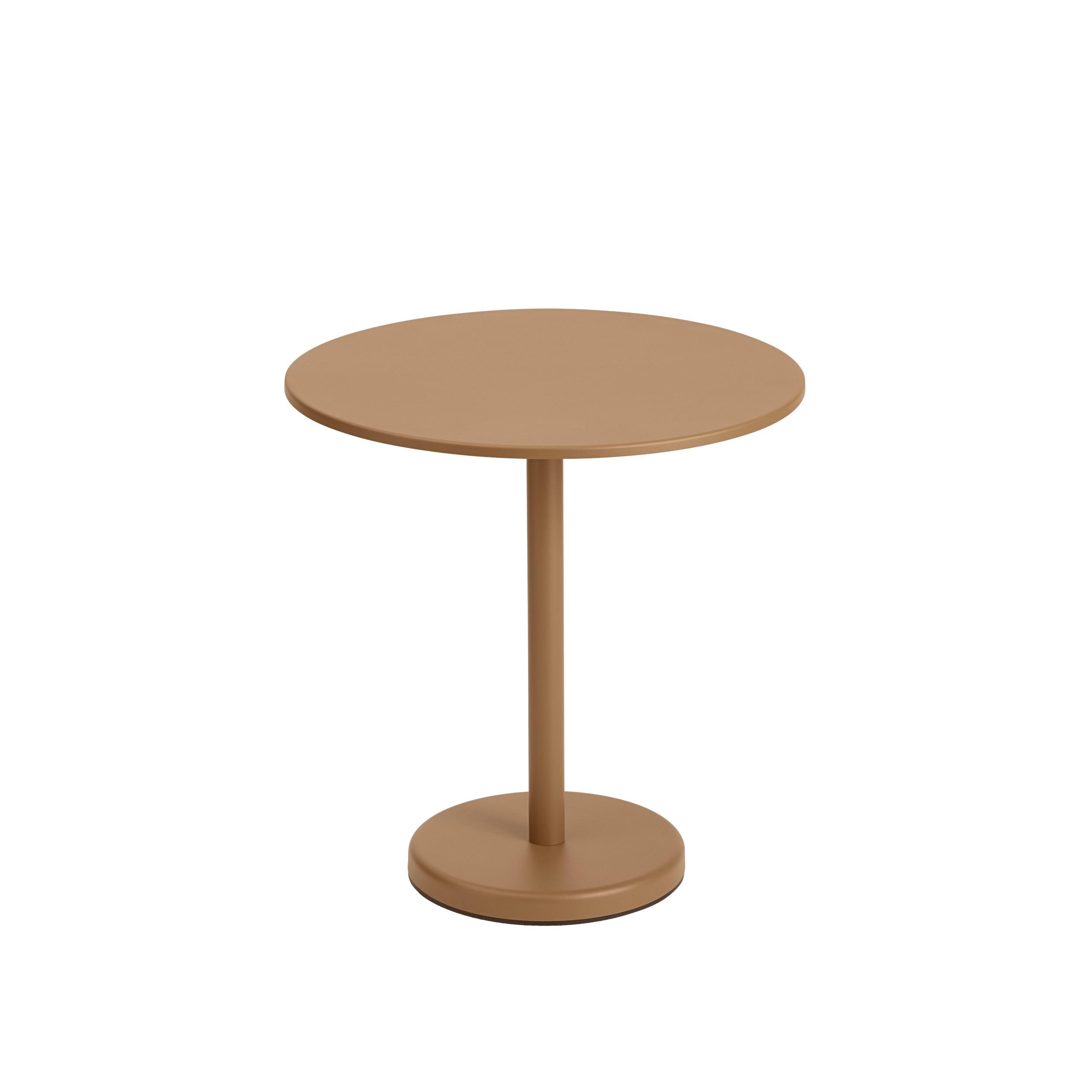 Linear Steel Cafe Table 70cm Diameter.