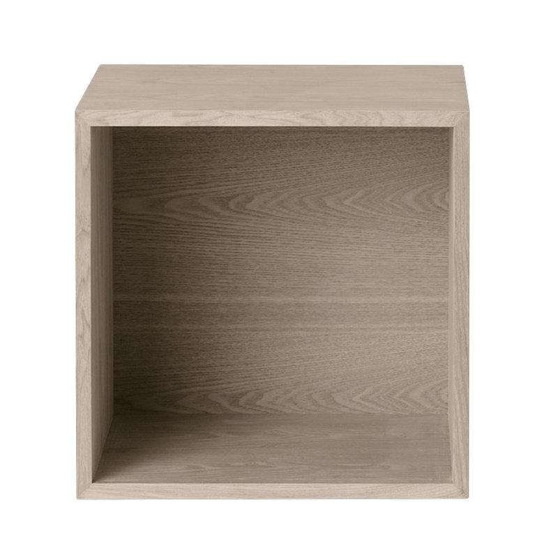 Stacked 2.0 shelf module with back, medium, oak