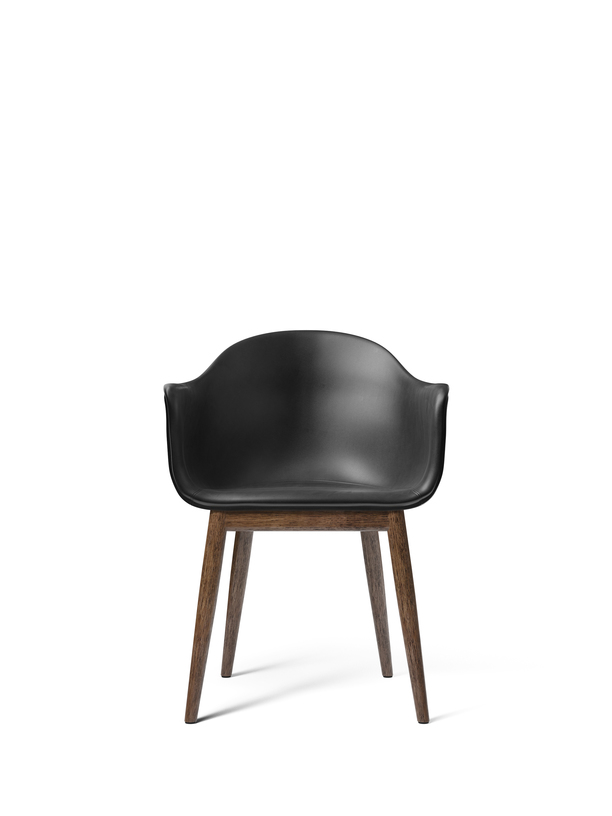 Harbour Dining Chair with Wooden Base – Leather