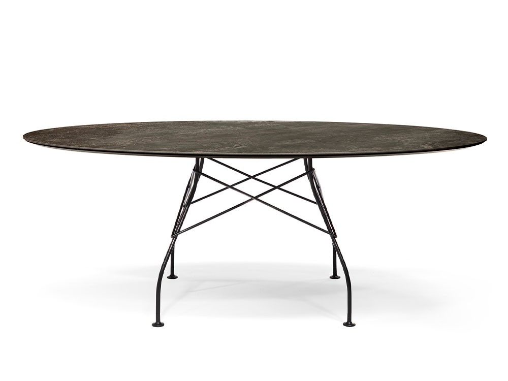 Glossy Outdoor Table Ø 128cm