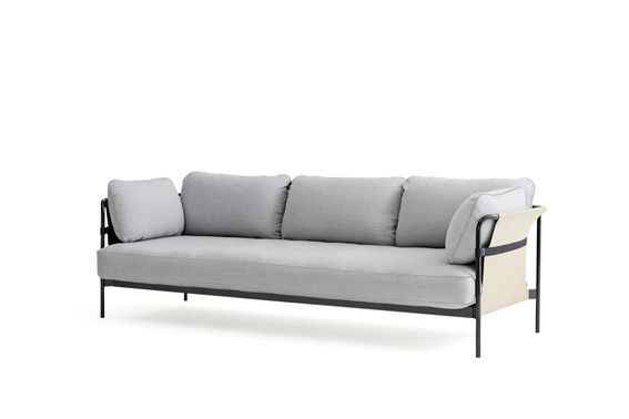 Can Sofa, 3 seater, Black Frame