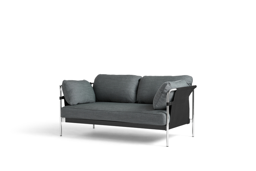 Can Sofa, 2 Seater, Chrome Frame